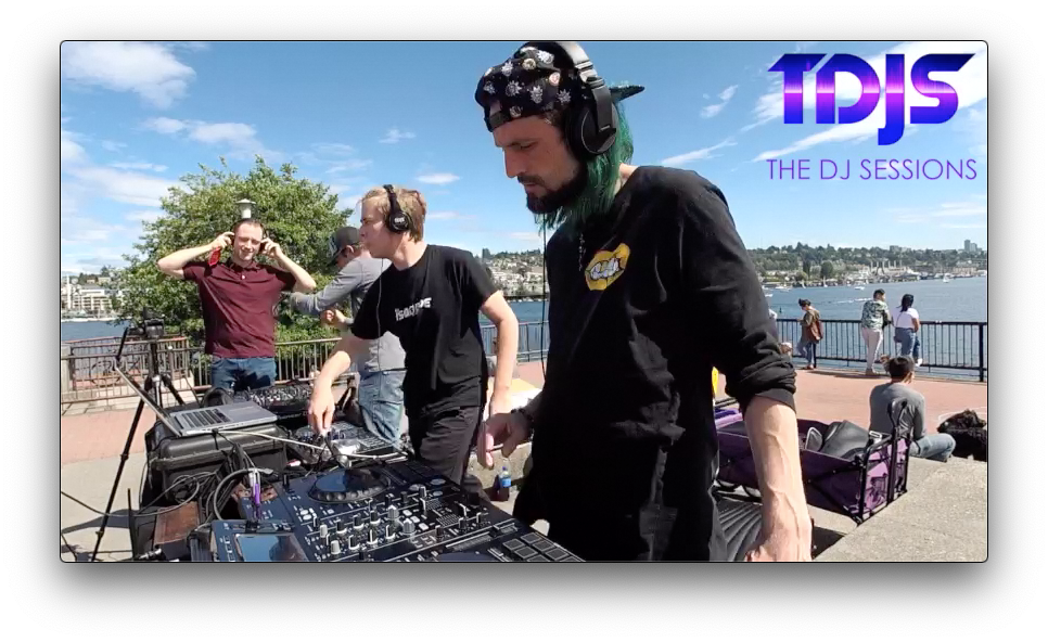 "KUTT3R and OFT3N B2B on The DJ Sessions ""Silent Disco Sunday's"" at Gas Works Park in Seattle, WA 5/26/19"