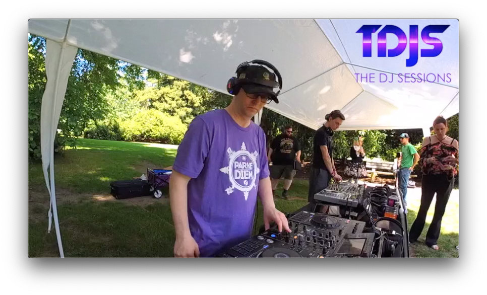 Mode4 at Parké Diem 2019 Silent Disco in Seattle presented by The DJ Sessions 6/29/19