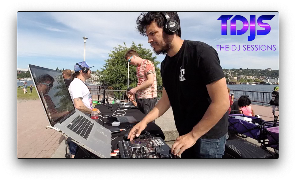 "dado on The DJ Sessions ""Silent Disco"" Sessions at Gas Works Park in Seattle, WA 6/19/19"