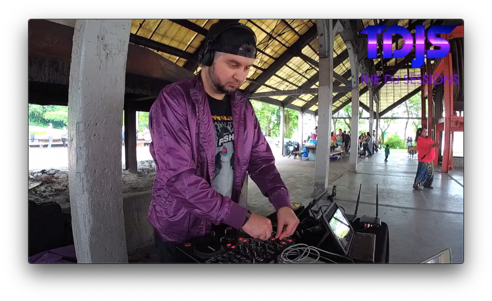 "Ganin on The DJ Sessions ""Silent Disco Sunday's"" at Gas Works Park in Seattle, WA 6/23/19"