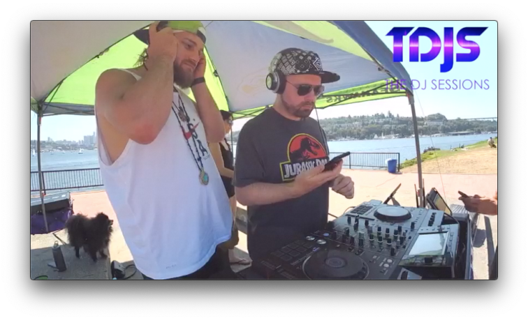 "Glty and BNGRZ from Covert Ops on The DJ Sessions presents the ""Silent Disco Sunday's"" at Gas Works Park 8/04/19"
