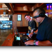 """DJ Dangerish & DA33L€ on the """"7B's Brunch"""" Sessions presented by The DJ Sessions at the Queen Anne Beer Hall 7/3/21"""